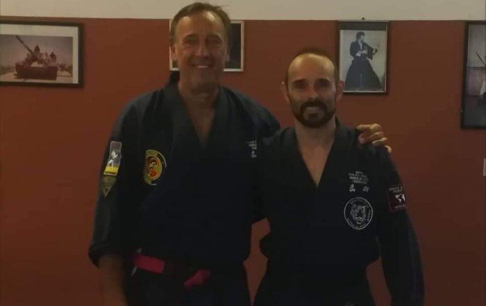 Kyoshi Guido Nicoli welcoming Gianluca Ferretti